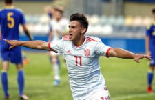 Nacho Díaz anota el tanto de la victoria de la Selección ante Bosnia