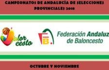 Fijadas las fechas para la celebración de los Campeonatos de Andalucía de Selecciones Provinciales de baloncesto