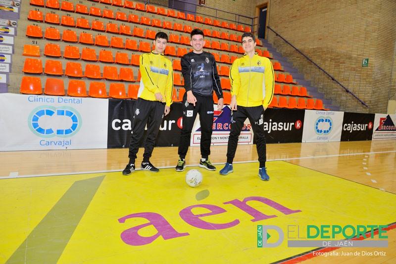 Los tres canteranos del Jaén FS, ganadores del Nacional de Selecciones Sub-19