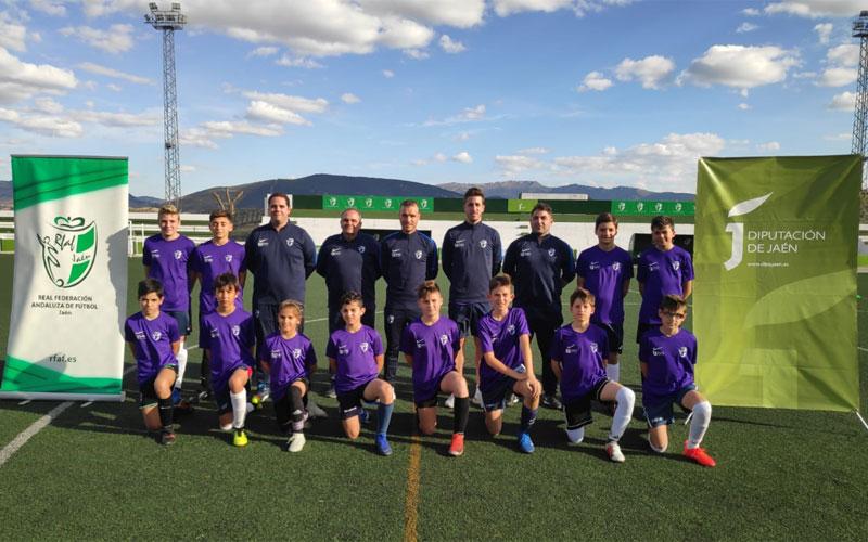 Formación de la expedición de la selección de Jaén alevín de fútbol