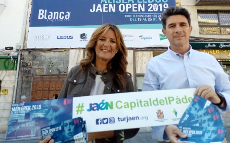 Concejales presentando actividades del Jaén Open 2019