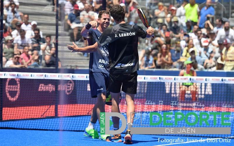 Paquito Navarro y Juan Lebrón celebran el pase a la final del Jaén Open 2019