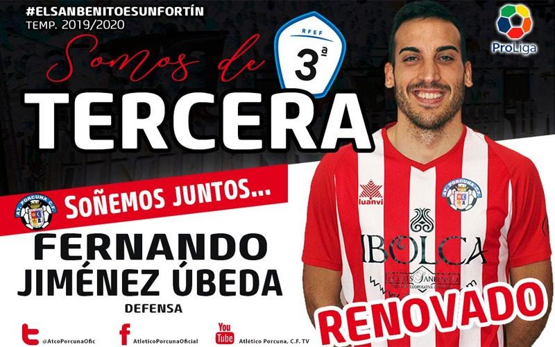 Fernando, jugador del Atlético Porcuna
