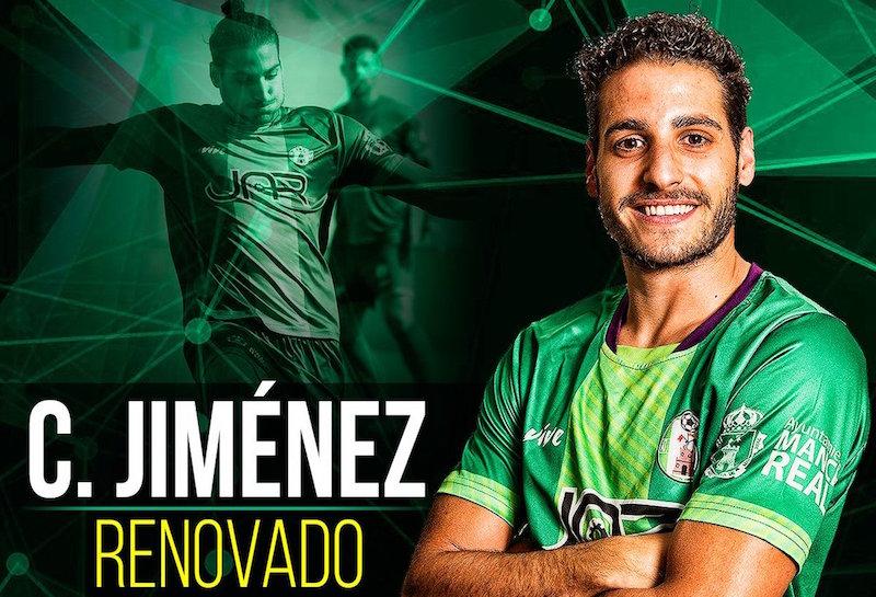 Cartel anunciador de la renovación de Carlos Jiménez