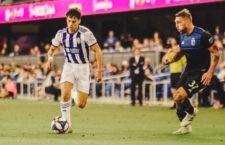 Aguado disputó sus primeros minutos con el equipo vallisoletano. Foto: realvalladolid.es