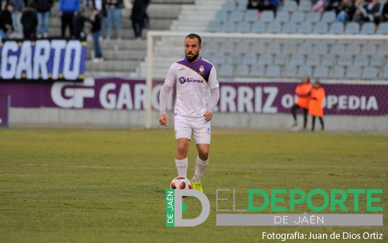 Cervera en un partido con el Real Jaén
