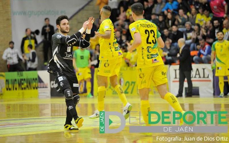 Iker López en un partido del Jaén FS
