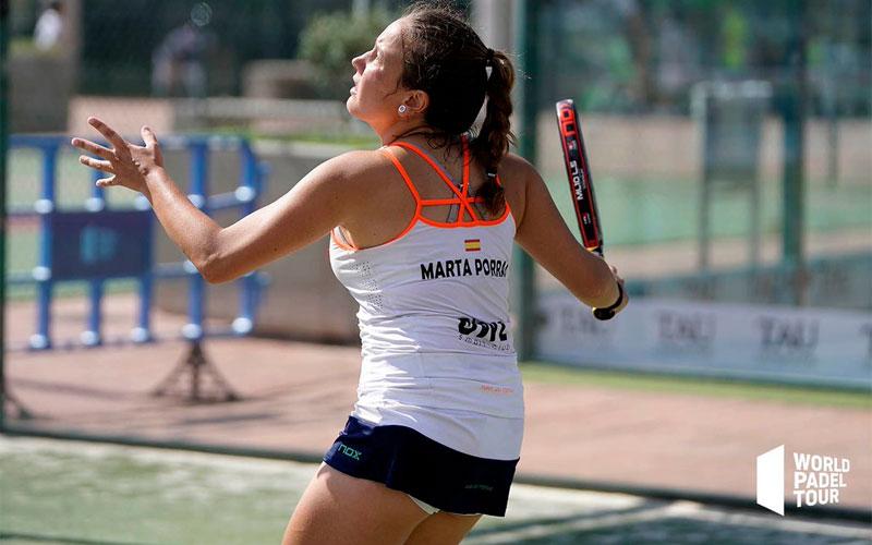 Marta Porras en un partido del Valencia Open de World Padel Tour