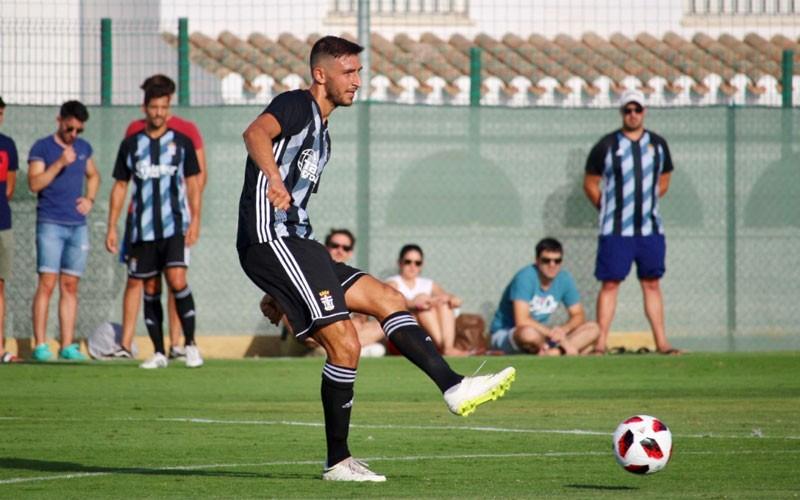 Mauro en un partido con el FC Cartagena