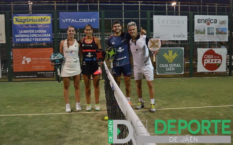 Teresa Navarro, Majo Sánchez Alayeto, Javi Garrido y Miguel Lamperti tras la exhibición en el Torneo 'Ciudad de Úbeda'