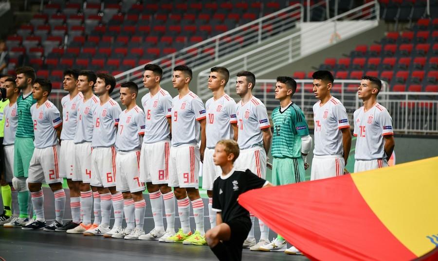 Selección Española de Fútbol Sala Sub-19 ante Croacia.