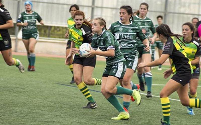 Lea Ducher en un partido con el Jaén Rugby