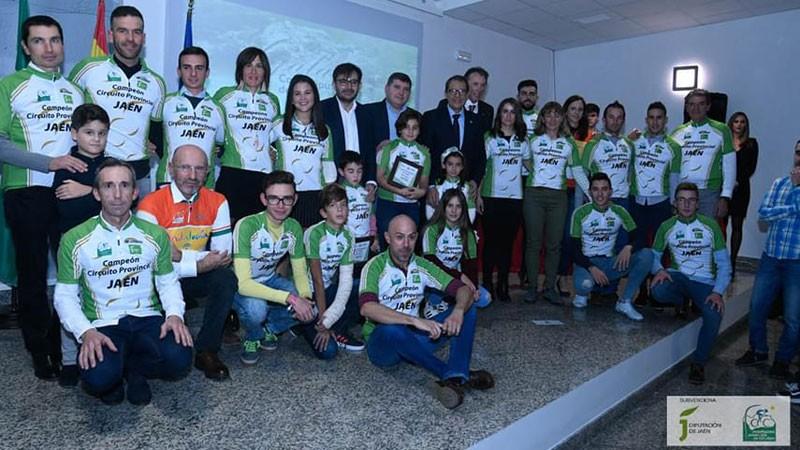Premiados en la gala del ciclismo jienense 2018