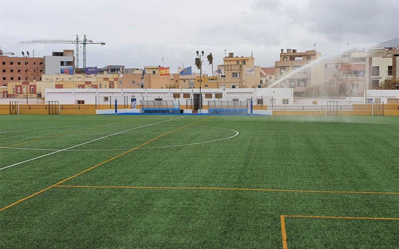 Campo de fútbol de la espiguera en melilla