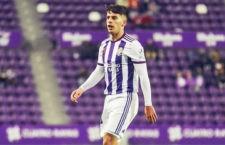 El jiennense anotó un doblete en su primer partido oficial con el cuadro blanquivioleta. Foto: R. Valladolid.