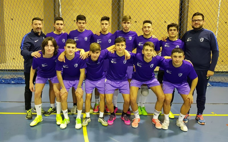 Jugadores de la selección cadete de Jaén de fútbol sala