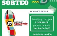 SORTEO de dos dorsales para la San Antón de Jaén 2020