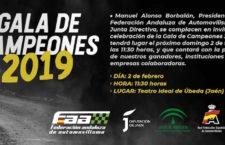 Úbeda acogerá la Gala de Campeones 2019 del automovilismo andaluz