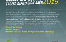 Noalejo albergará la entrega de trofeos del Campeonato Provincial de Automovilismo