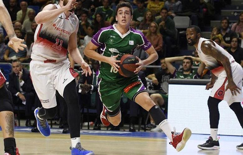 El joven linarense con la camiseta de Unicaja Málaga. Foto: ACB.