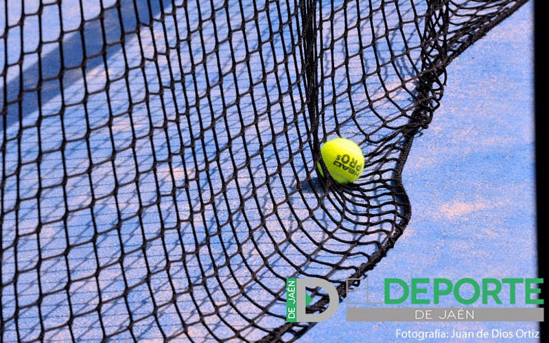 red de padel con una pelota