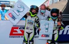 Jesús Torres exhibe su gran nivel en la prueba del nacional ESBK Moto4 en Cheste
