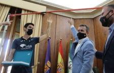 Recepción institucional a Carlos Rojas en el Ayuntamiento de Jaén