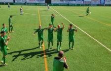 Dedicatoria de los verdes para su capitán, Albertillo. Foto: Atco. Mancha Real.
