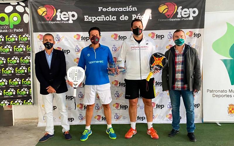 héctor perona willy castañón campeones españa pádel veteranos jaén