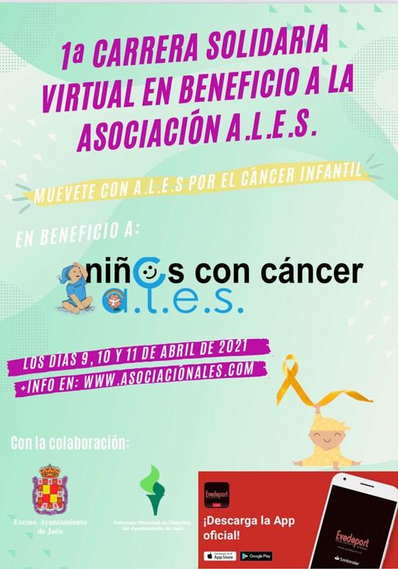 cartel carrera solidaria virtual ales jaen