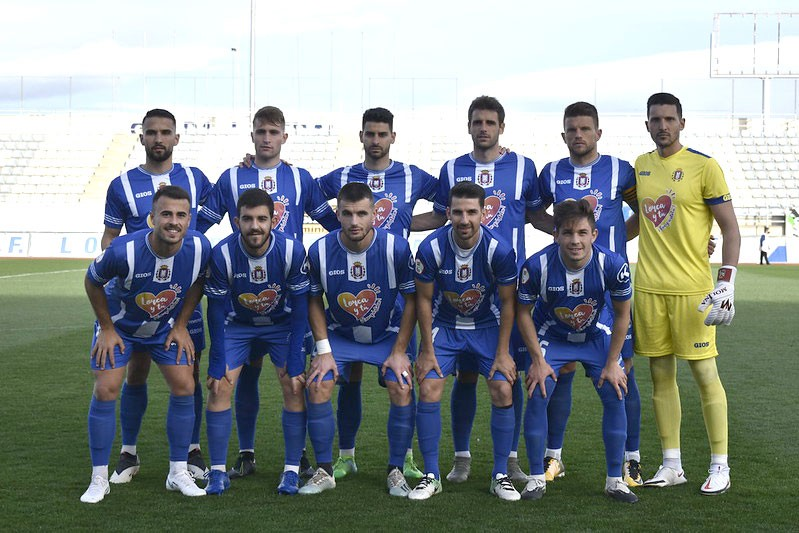 once inicial del Lorca Deportiva durante la presente temporada