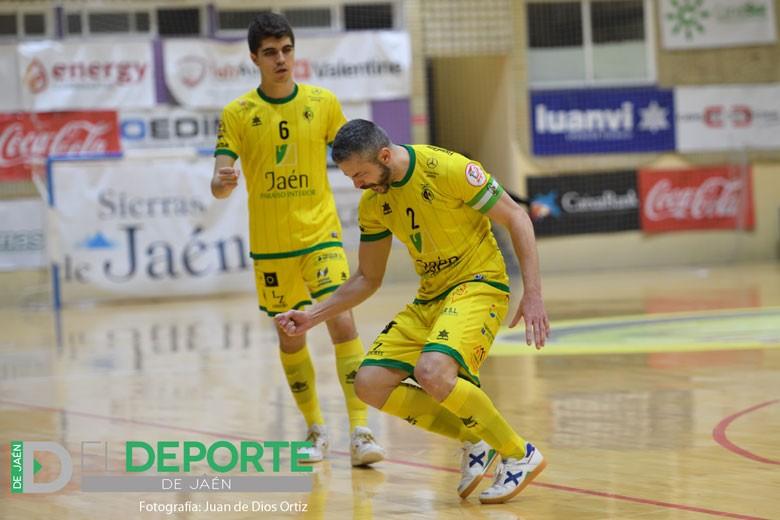Mauricio y Antonio Pérez, durante el Jaén FS - Levante en La Salobreja