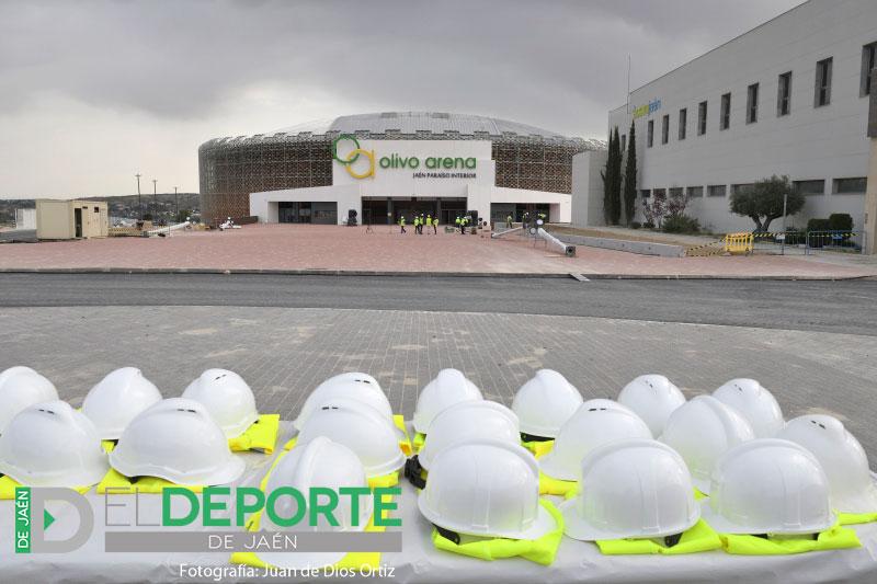 Cascos de Seguridad en el Palacio de los Deportes Olivo Arena de Jaén