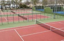 Concluyen las intervenciones de mejora en las pistas de tenis de Baeza