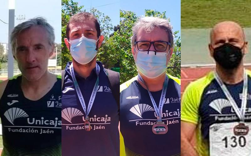 Notable participación de los veteranos del Unicaja Atletismo en el Andaluz Máster