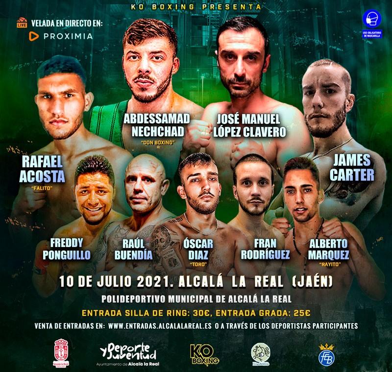 Alcalá la Real acogerá una velada de boxeo el próximo 10 de julio