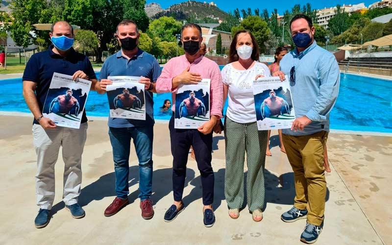 autoridades presentan campeonato andalucia natacion absoluto junior