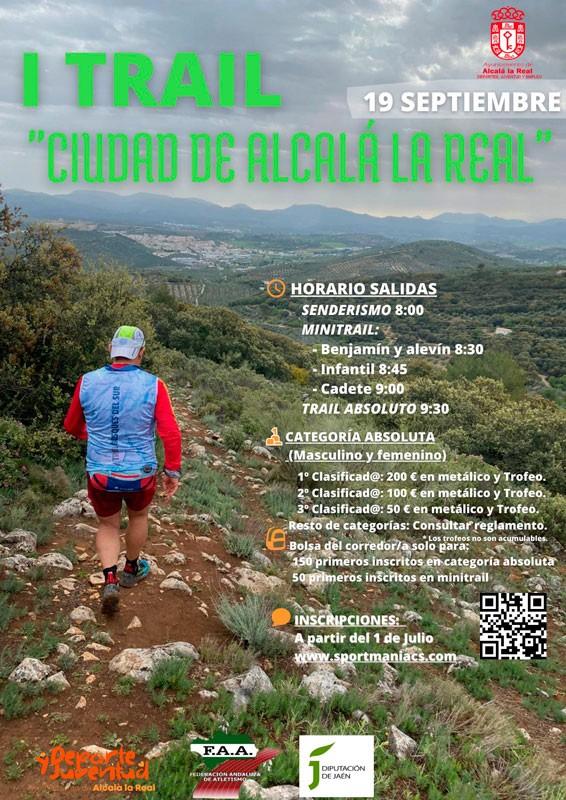 cartel trail montaña ciudad de alcala la real