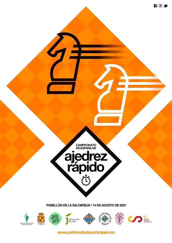 cartel campeonato españa ajedrez rapido jaen 2021