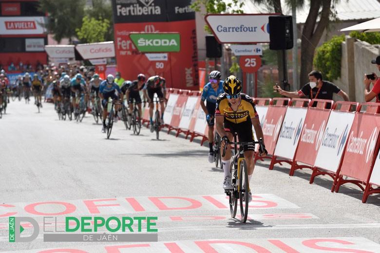 Roglic, vencedor en el trepidante final de Valdepeñas de Jaén