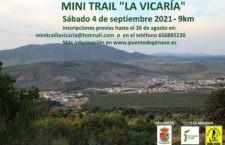 Abiertas las inscripciones del I Mini Trail 'La Vicaría' de Puente de Génave
