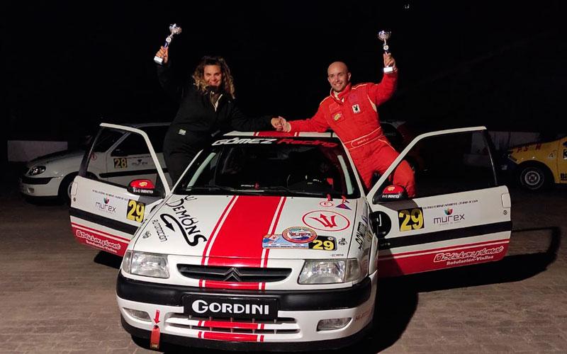 Alejandro Gómez y Elena García se suben al podio en el Rally Crono de Enix