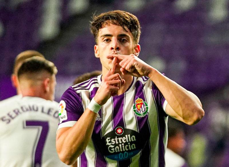 Aguado abrió el marcador en la victoria del Valladolid