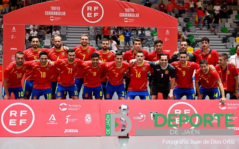 seleccion española fútbol sala jaen olivo arena