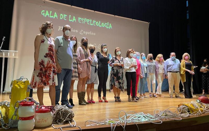 Ciencia, deporte, investigación y solidaridad se dieron cita en la IX Gala de la Espeleología de Villacarrillo