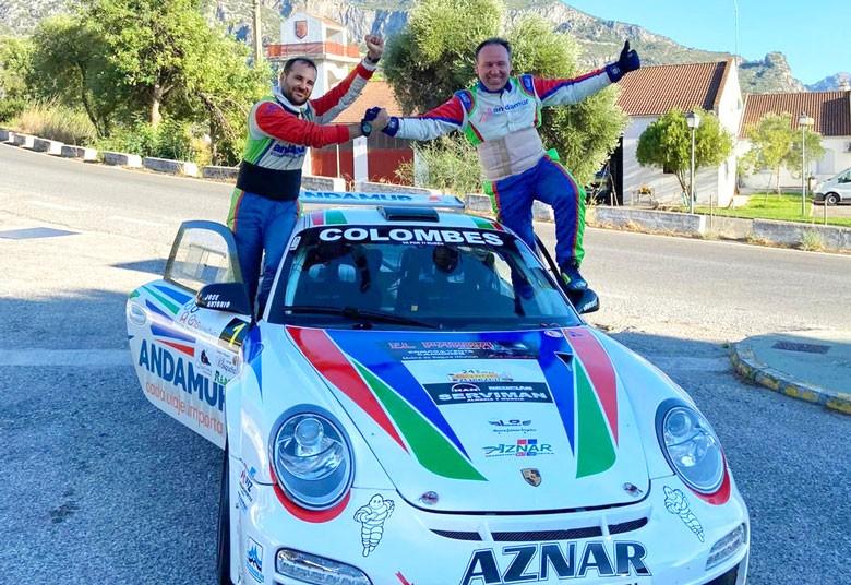 El copiloto jiennense Iván Urea logra junto a José Antonio Aznar el primer puesto del Rally Sierra de Cádiz