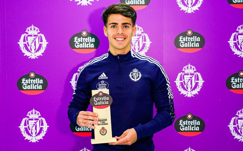 Aguado, elegido mejor jugador del mes de septiembre en el Valladolid